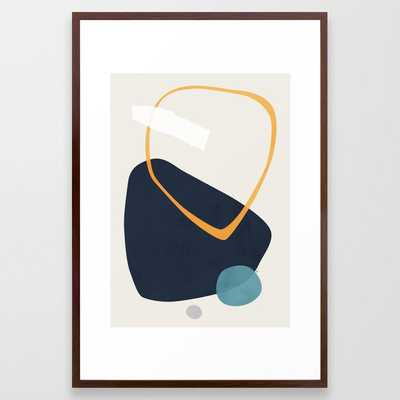 Rai Framed Art Print by Tracie Andrews - Conservation Walnut - LARGE (Gallery)-26x38 - Society6