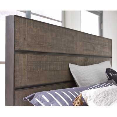 Aahil Metal and Wood Bed Panel Headboard - Wayfair