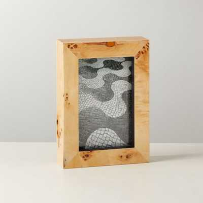 """Burl Wood Picture Frame 4""""x6"""" - CB2"""