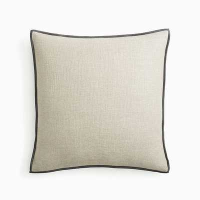 "Classic Linen Pillow Cover, 20""x20"", Flax, Set of 2 - West Elm"