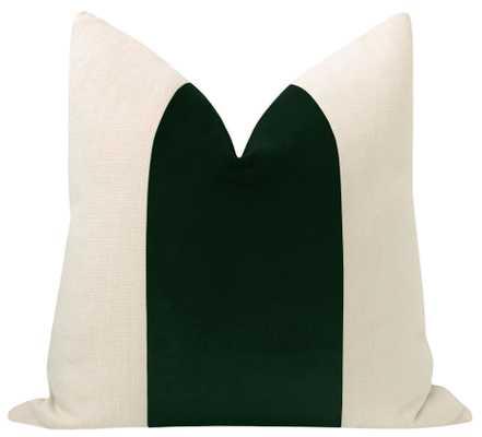 "PANEL :: Classic Velvet // Emerald - 20"" X 20"" - Little Design Company"