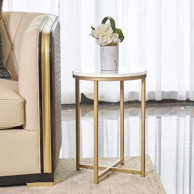Malene Cross Legs End Table - Wayfair