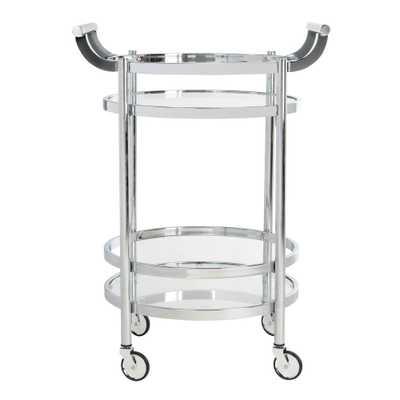 Safavieh Sienna 2-Tier Chrome Bar Cart, Grey - Home Depot