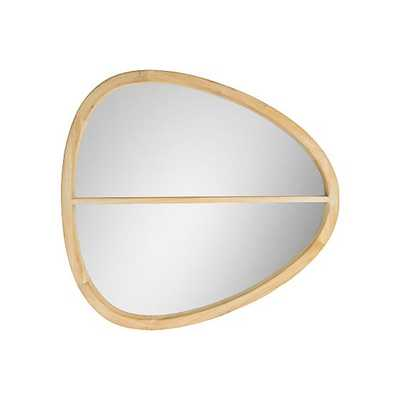 Oval Wooden Wall Mirror With Shelf - West Elm
