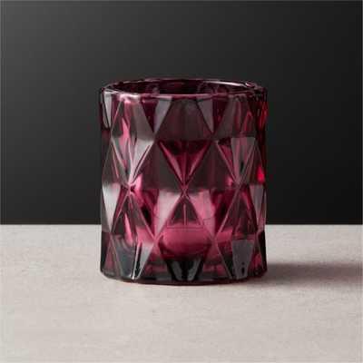 Betty Cabernet Tea Light Candle Holder - CB2