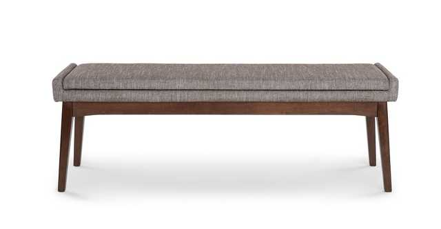 "Chanel Volcanic Gray 56"" Bench - Article"