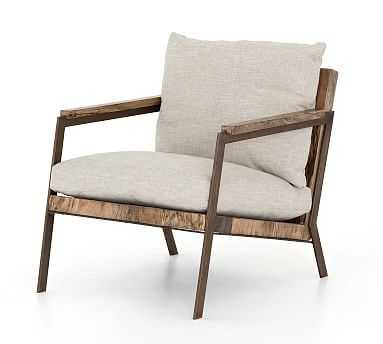 Terri Armchair, Primavera Wood/Oxidized Iron - Pottery Barn