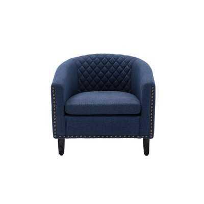 "29"" W Faux Leather Barrel Chair - Wayfair"