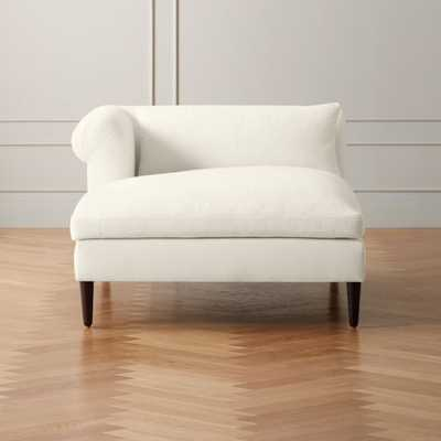 York Frost Left Arm Wide Chaise Lounge - CB2