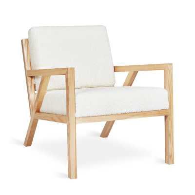 Gus* Modern Truss Lounge Chair Leg Color: Ash Natural, Fabric: Himalaya Cloud - Perigold