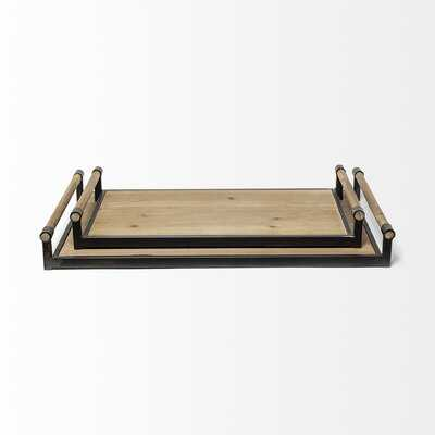 Grantville 2 Piece Accent Ottoman/Coffee Table Tray Set - Birch Lane