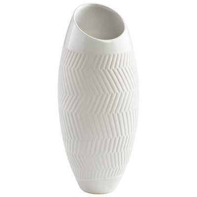 Small Chevron Vase - Onyx Rowe