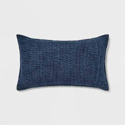 Lumbar Quilted Solid Pillow Chambray - Threshold - Target