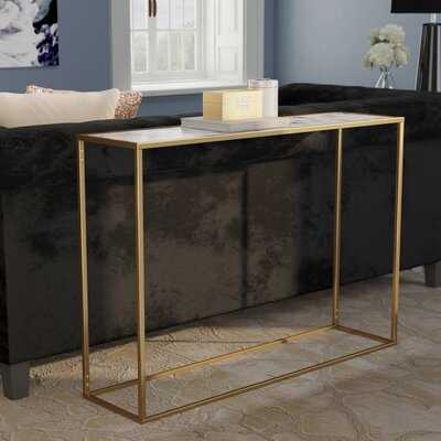 Theydon Faux Marble Console Table - Wayfair