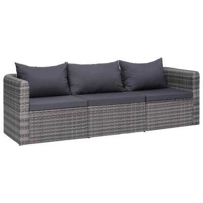 Bascombe Patio Sofa with Cushions - Wayfair