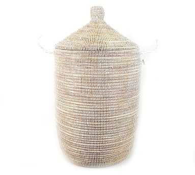 Tilda Woven Basket, White - Large - Pottery Barn