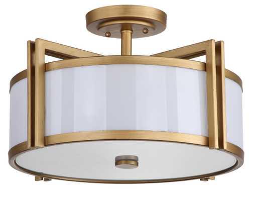 Orb 3 Light 17-Inch Dia Semi Flush - Antique Gold - Arlo Home - Arlo Home