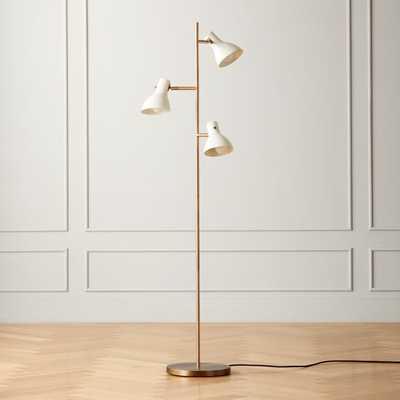 Belini Ivory Floor Lamp - CB2