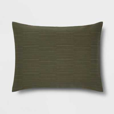 King Textural Stripe Sham Olive - Project 62 + Nate Berkus , Green - Target