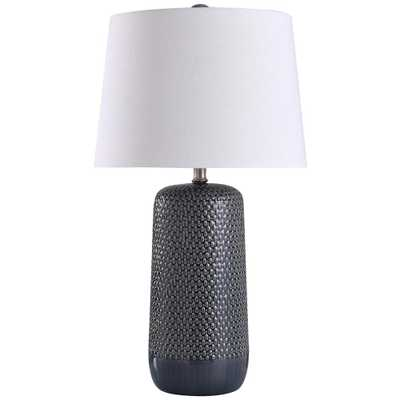 StyleCraft Galey 30 in. Navy Blue Table Lamp - Home Depot