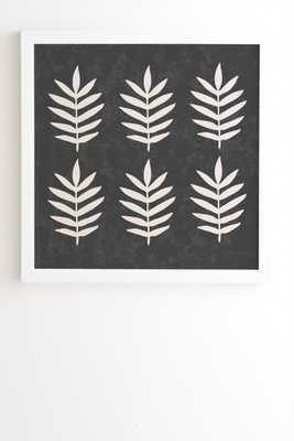 "Palm Pattern Abstract Framed Artwork, 12""x 12"" - Haldin"