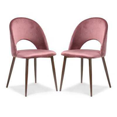 Adalwen Velvet Upholstered Side Chair (Set of 2) - Wayfair