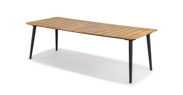 Latta Slate Gray Dining Table for 8 - Article