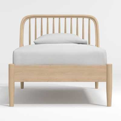 Bodie Oak Spindle Twin Bed - Crate and Barrel