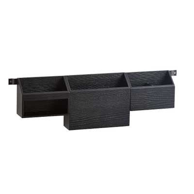 Desk Organization Wall Storage, Weathered Black - Pottery Barn Teen