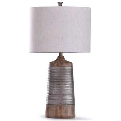 StyleCraft Galey 30 in. Beige Table Lamp - Home Depot