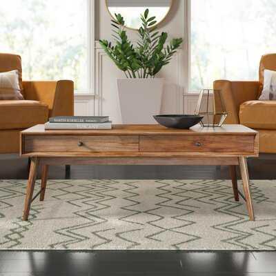 Andersen Solid Wood Coffee Table with Storage - Wayfair