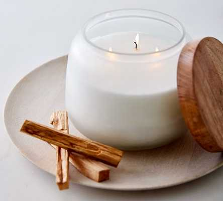 Tranquil Collection Scented Lidded Candle - Amber & Vanilla - Pottery Barn