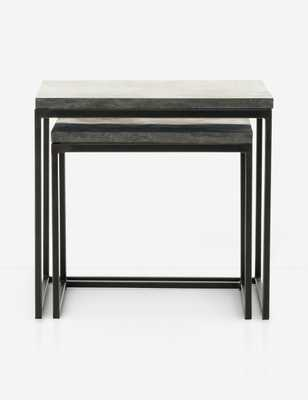 Ginette Nesting End Tables, Gray - Lulu and Georgia