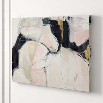 "Chelsea Art Studio 'Twombly Escape' Print Format: Gild Gold, Size: 36"" H x 48"" W x 2"" D - Perigold"