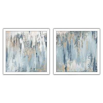 Blue Illusion Square by Patricia Pinto - 2 Piece Wrapped Canvas Print Set - Wayfair