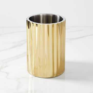 Corrugated Barware, Wine Cooler, Brass - West Elm