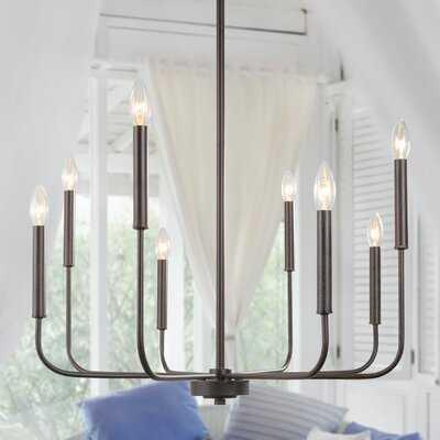 Ramsay 8 - Light Candle Style Geometric Chandelier - Wayfair