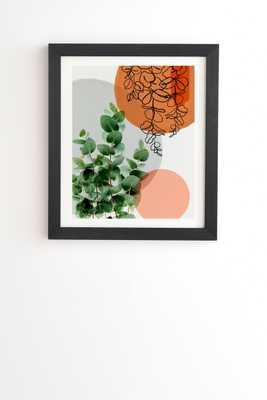 "Simpatico V4 by Gale Switzer - Framed Wall Art Basic Black 12"" x 12"" - Wander Print Co."
