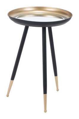 Everly Accent Table Gold & Black - Zuri Studios