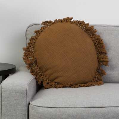 Shnorhali Round Cotton Pillow Cover and Insert - Wayfair
