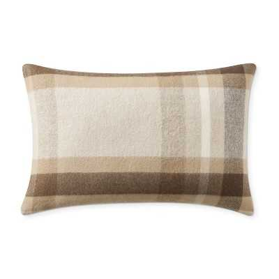 """Plaid Lambswool Pillow Cover, 14"""" X 22"""", Lewes - Williams Sonoma"""