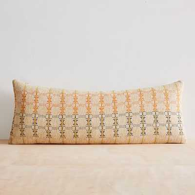 "Silk Hourglass Pillow Cover, 14""x36"", Multi - West Elm"