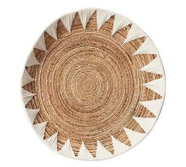 "Sunny Woven Basket Wall Art, White, 37"" - Pottery Barn"