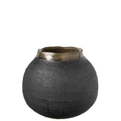 """Goetz Dark Gray 6.5"""" Ceramic Table Vase - Wayfair"""