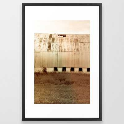 Michigan Barn Framed Art Print by Olivia Joy St.claire - Cozy Home Decor, - Vector Black - LARGE (Gallery)-26x38 - Society6