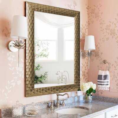 Morden Glam Hammered Vanity Mirror/Bathroom Mirror/ Accent Mirror - Wayfair