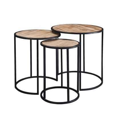 Rustic Metal Nesting Side End Tables,Set Of 3 - Wayfair