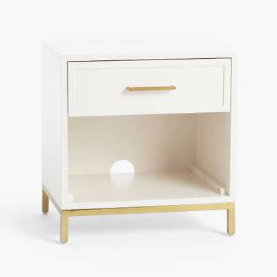 Blaire Nightstand, Lacquered Simply White, UPS - Pottery Barn Teen