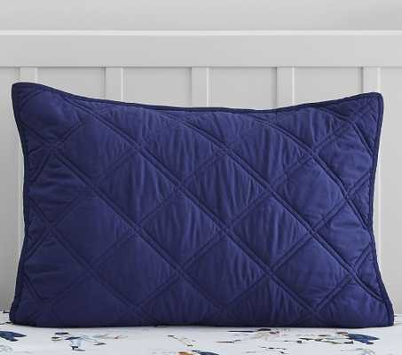 Recycled Microfiber Casual Essential Quilt, Standard Sham, Navy - Pottery Barn Kids