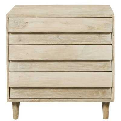 Raheem Reclaimed Look 3 Drawer Accent Chest - Wayfair